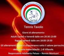 Allenamenti Tennis Tavolo