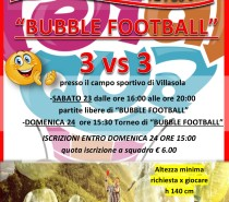 Festa in Oratorio: NOVITA' assoluta BUBBLE FOOTBALL