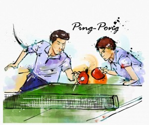 Ping-pong pair players